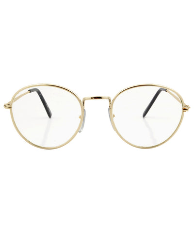 ridley gold clear sunglasses