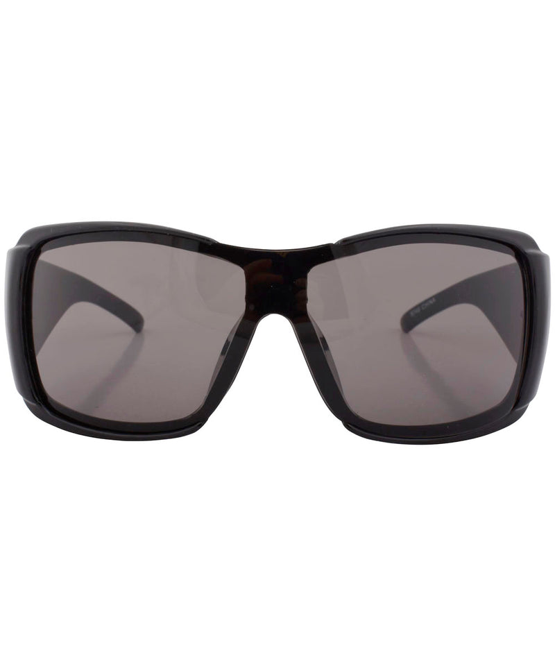 rolled black gambler sunglasses