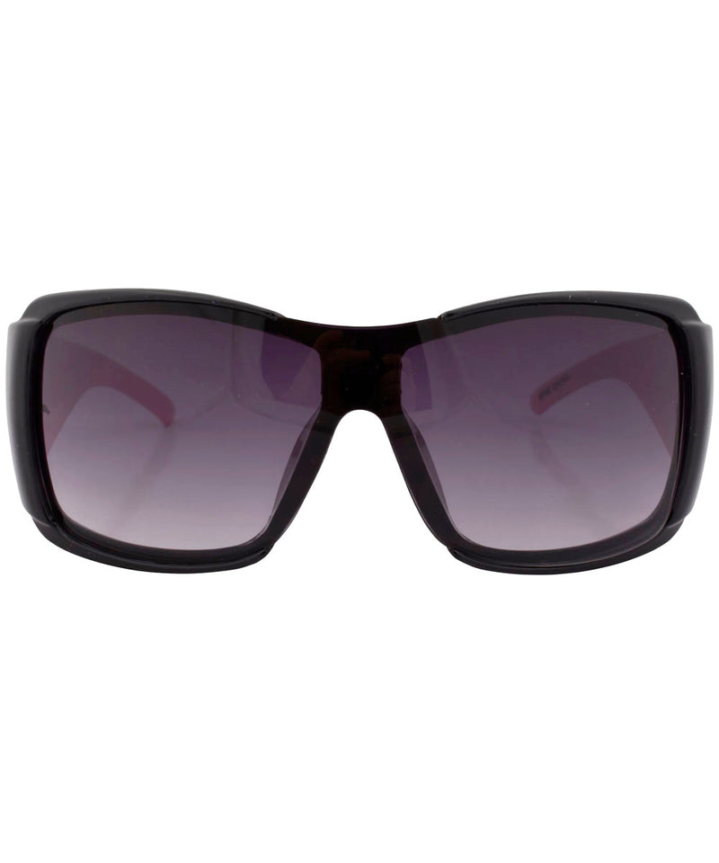 rolled black pink sunglasses