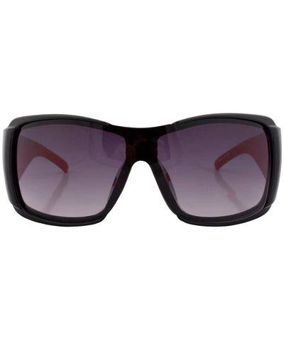rolled black red sunglasses