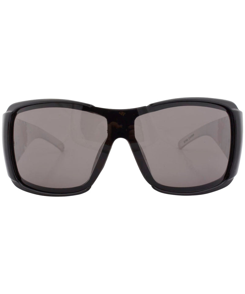 rolled black white sunglasses
