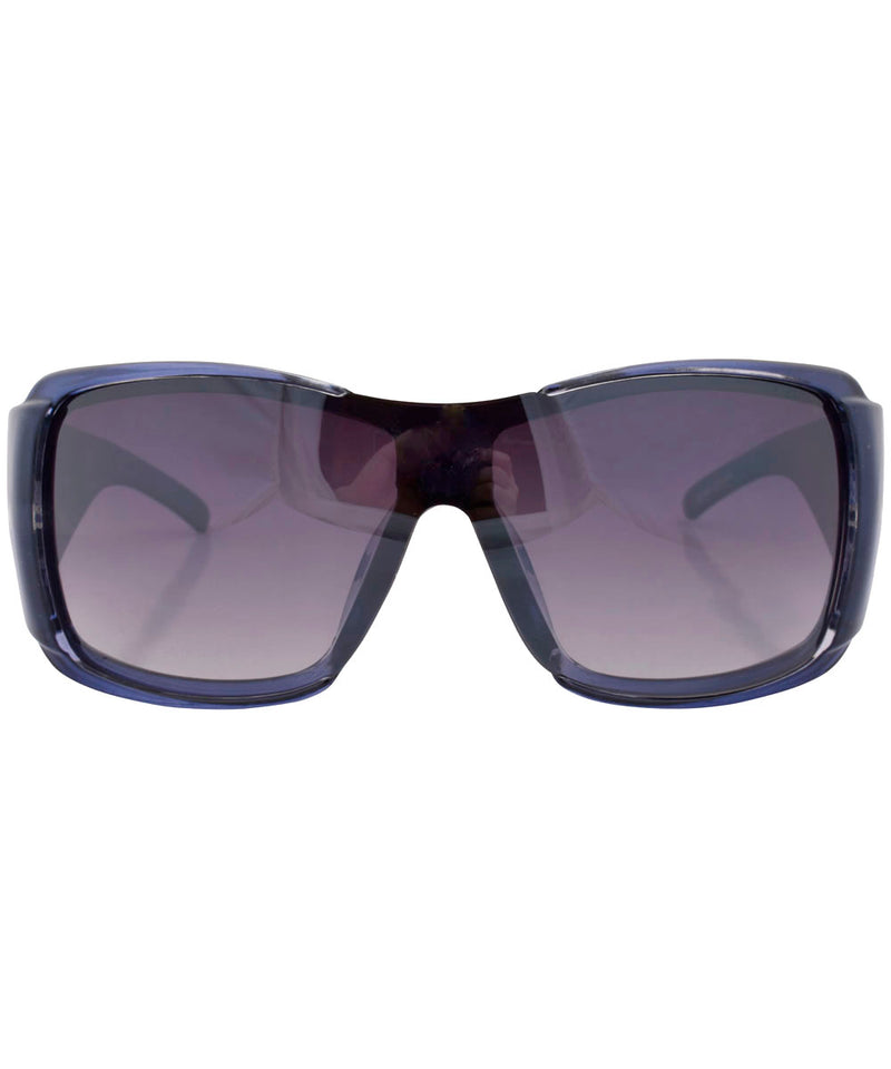 rolled blue sunglasses