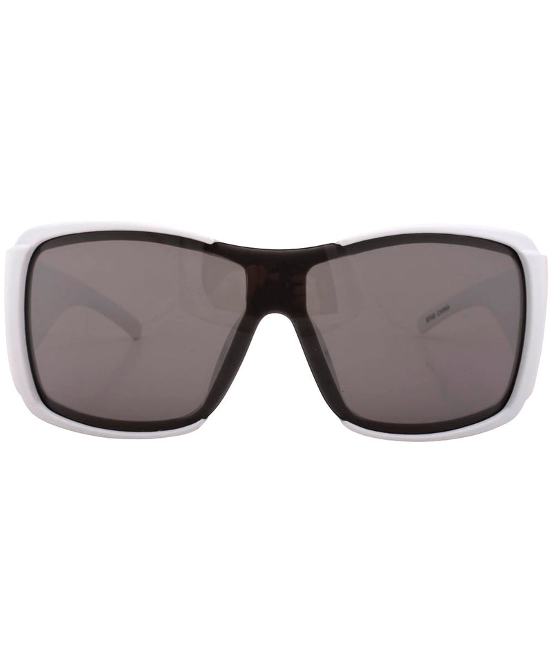 rolled white gambler sunglasses