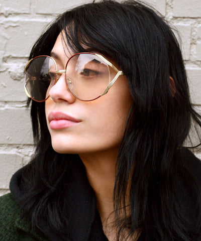 romance gold clear sunglasses