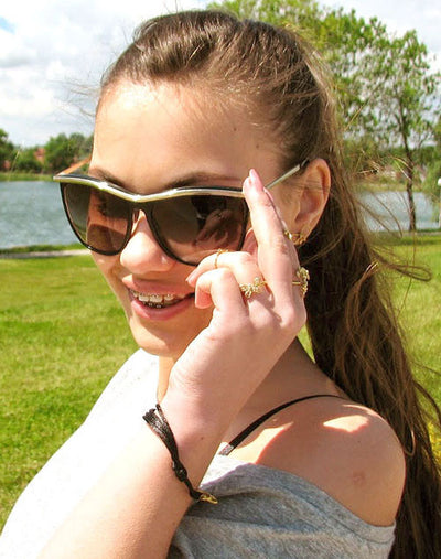 romy black sunglasses