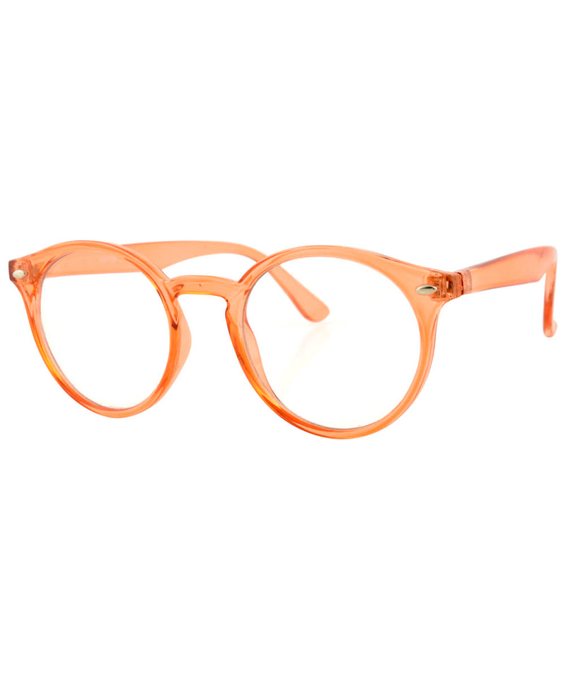 RUSKIN Orange Classic Clear Glasses