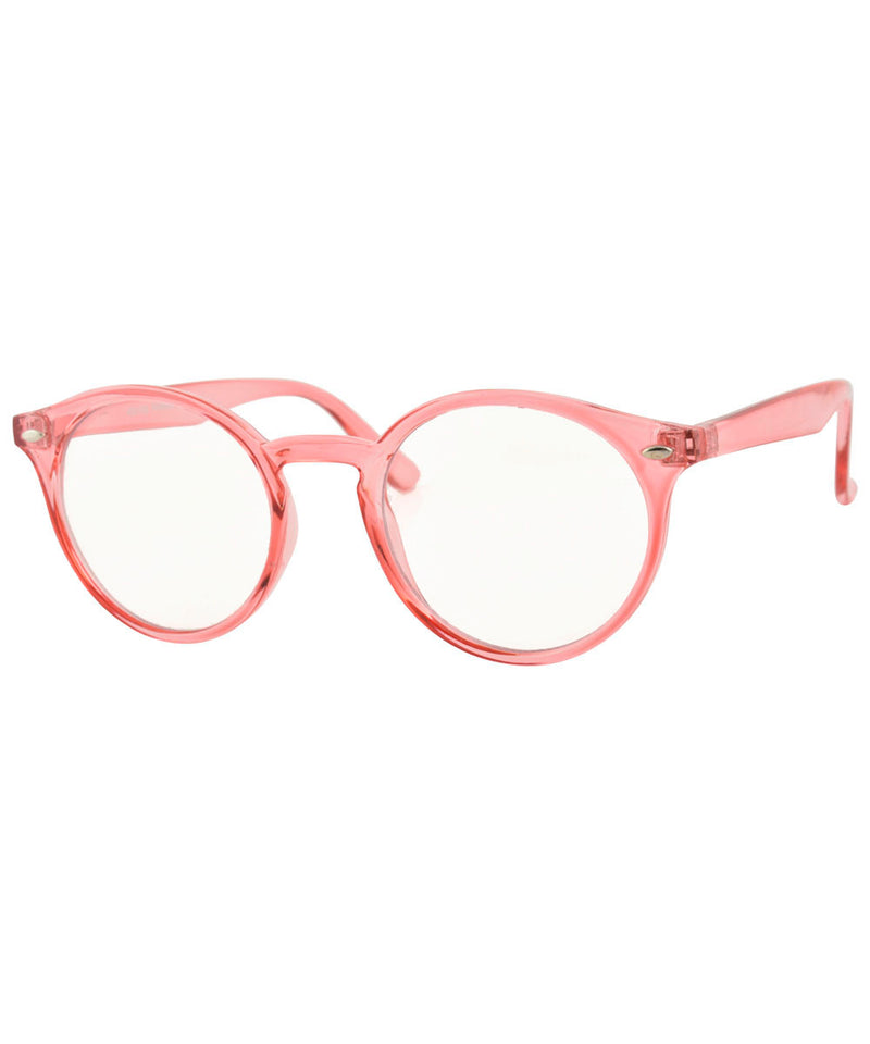 RUSKIN Pink Clear Glasses