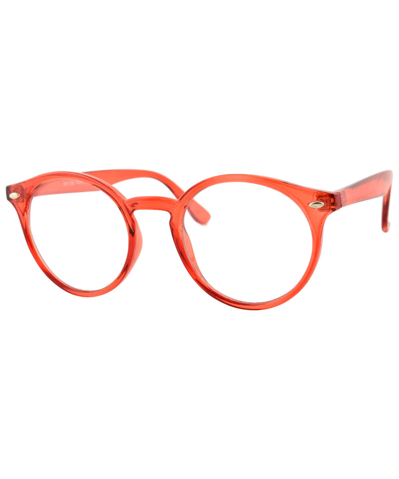 RUSKIN Red Clear Glasses