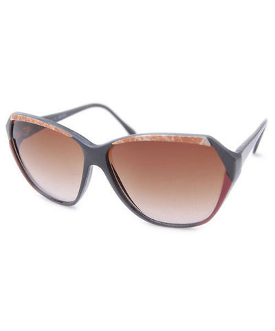 sapphire red brown sunglasses