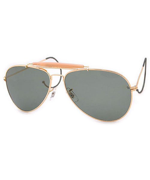 sarge gold sunglasses