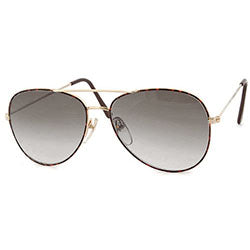 SHALLOT Gold Aviator Sunglasses