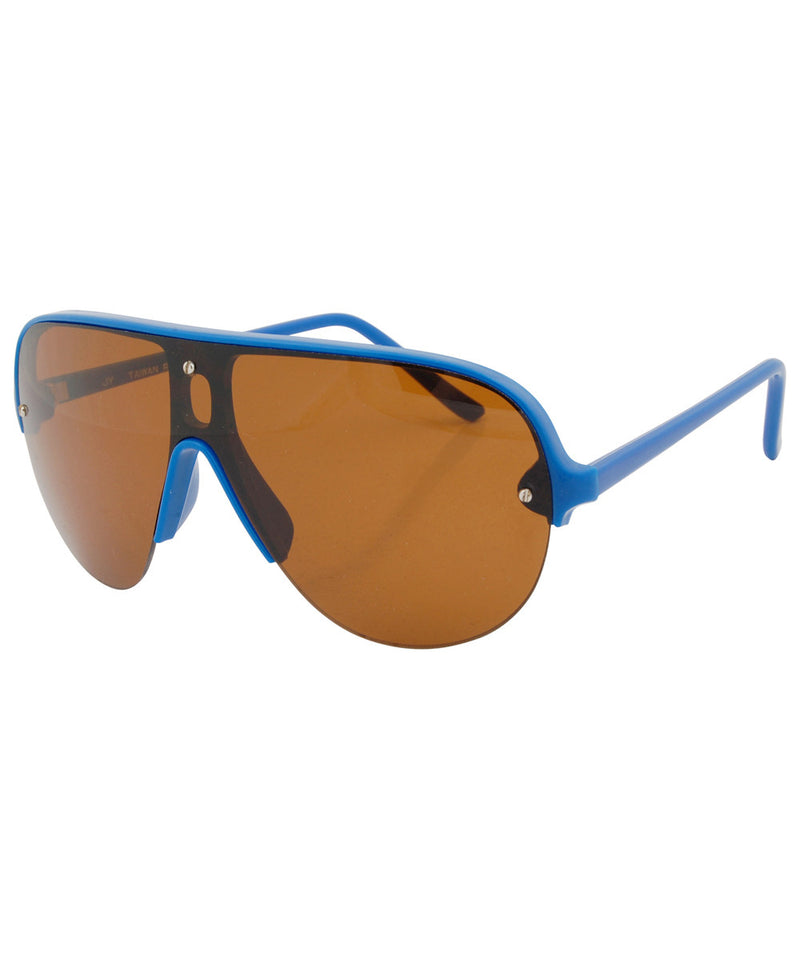 shapes blue amber sunglasses