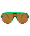 shapes green amber sunglasses