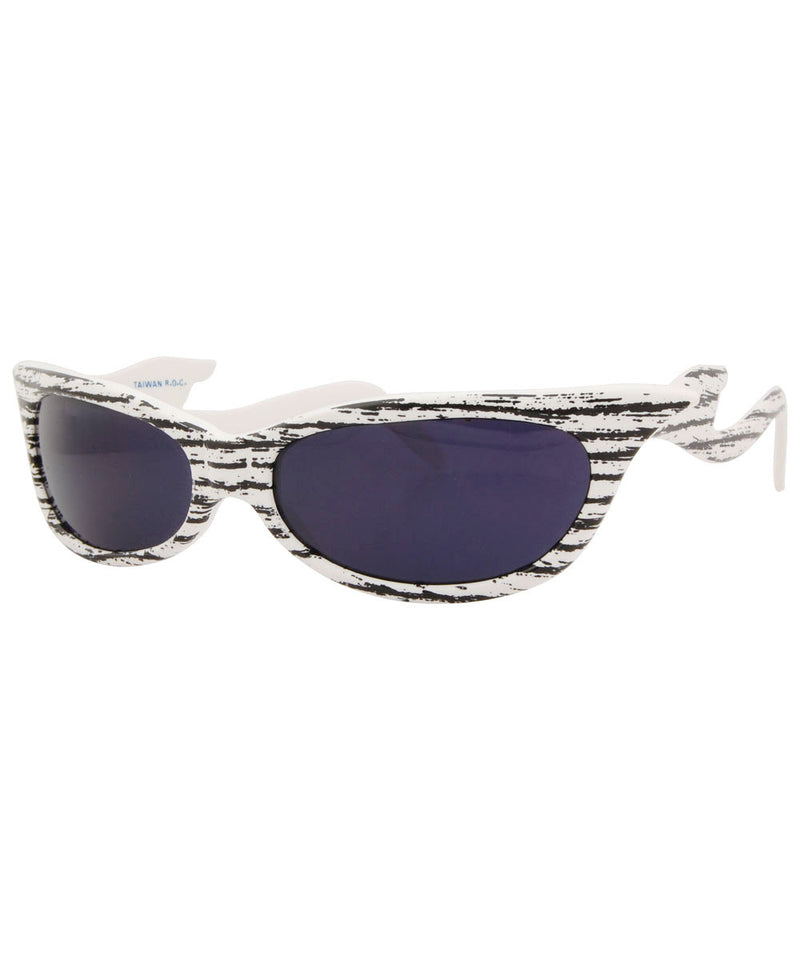 sharky white sunglasses