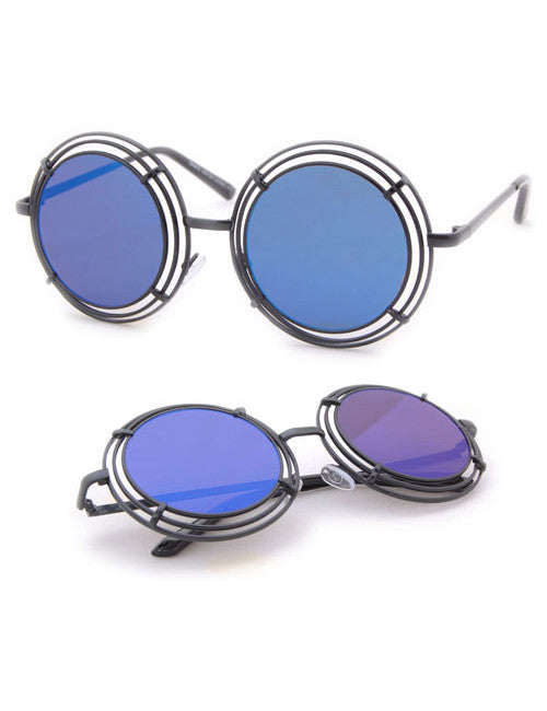 shelton black blue sunglasses