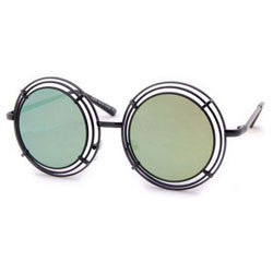 shelton black green sunglasses