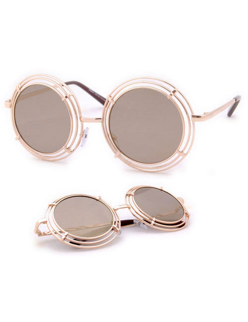 shelton gold amber sunglasses