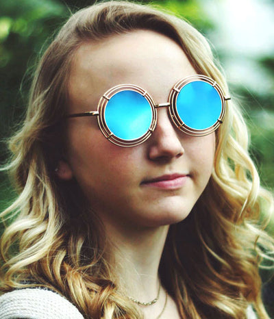 shelton gold blue sunglasses