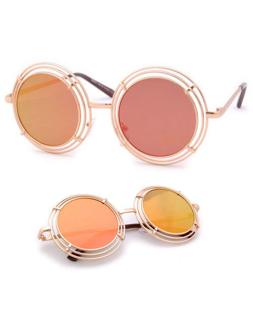 shelton gold fire sunglasses