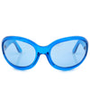 fifty seven blue blue sunglasses