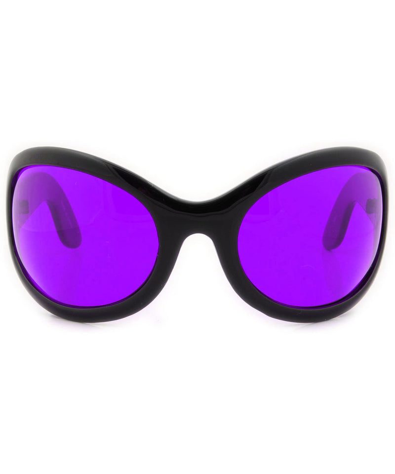 SIXTY SEVEN Black/Purple Raver Y2K Sunglasses