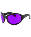sixty seven black purple sunglasses