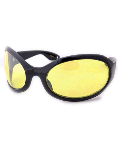 sixty seven black yellow sunglasses
