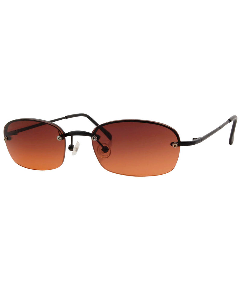 sizzle black amber sunglasses