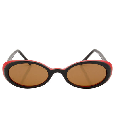 skunk black red sunglasses