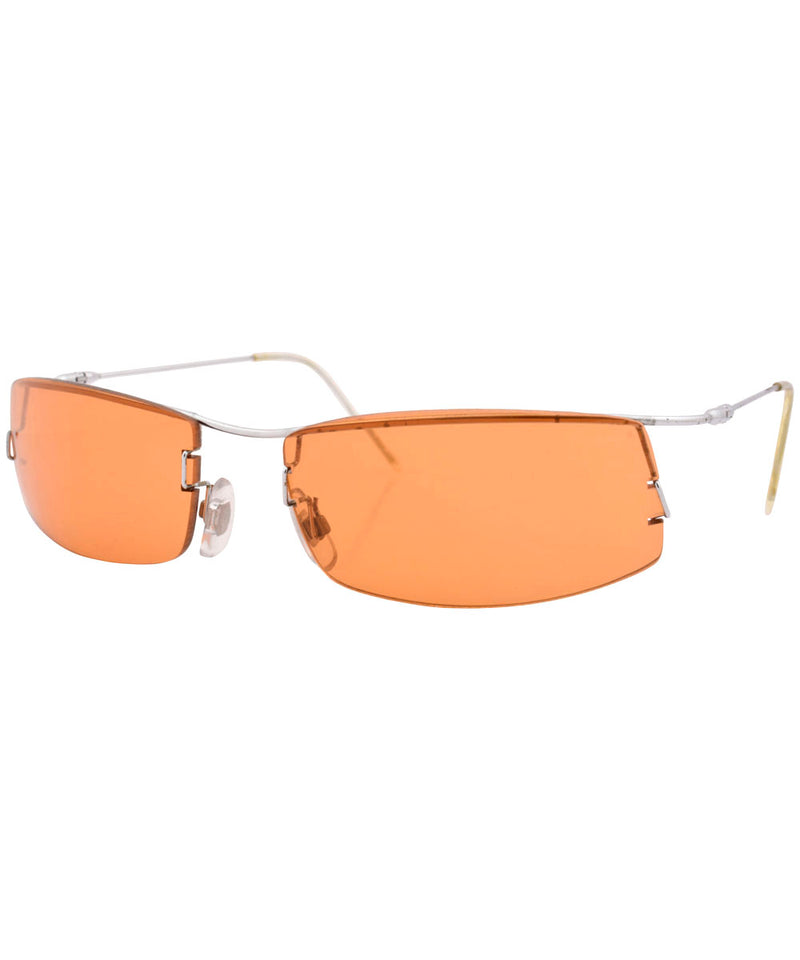 slicktator silver orange sunglasses