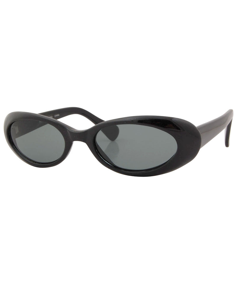 slim black sunglasses