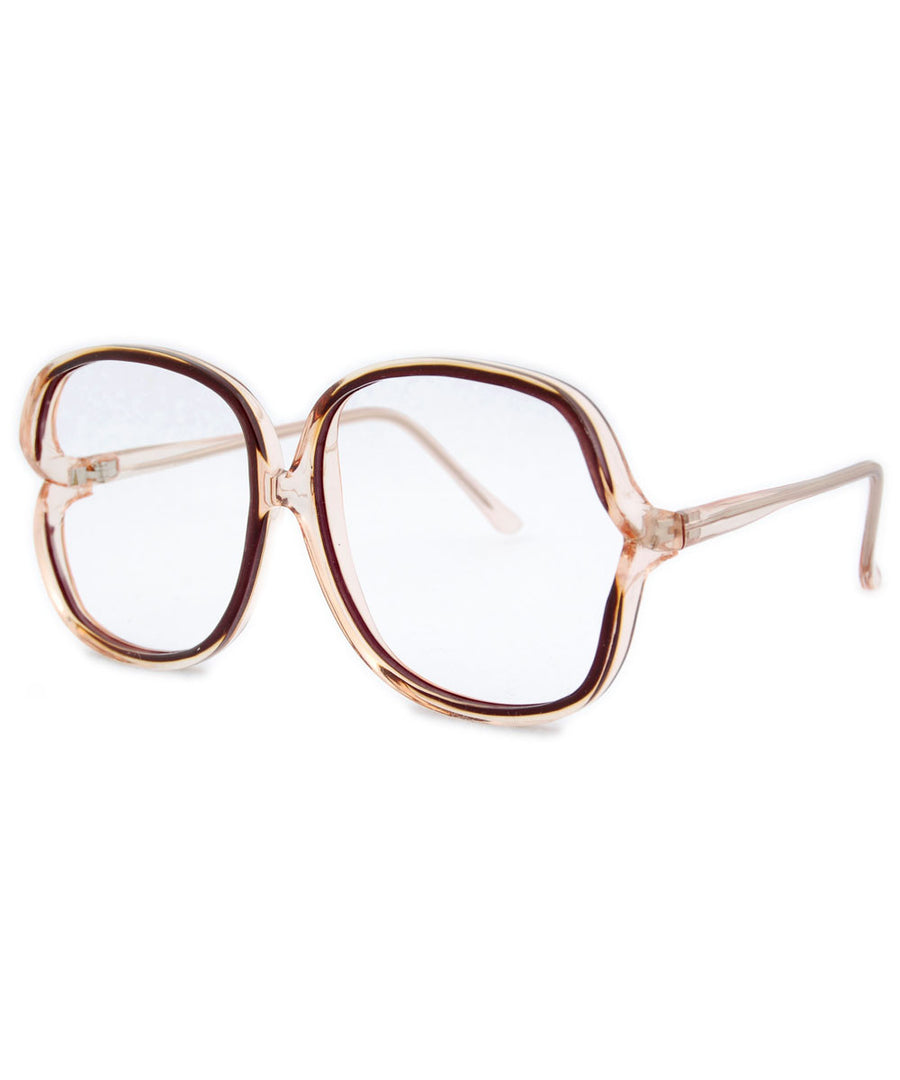 sloane tan clear sunglasses