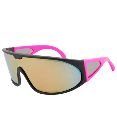 slopes pink gold sunglasses
