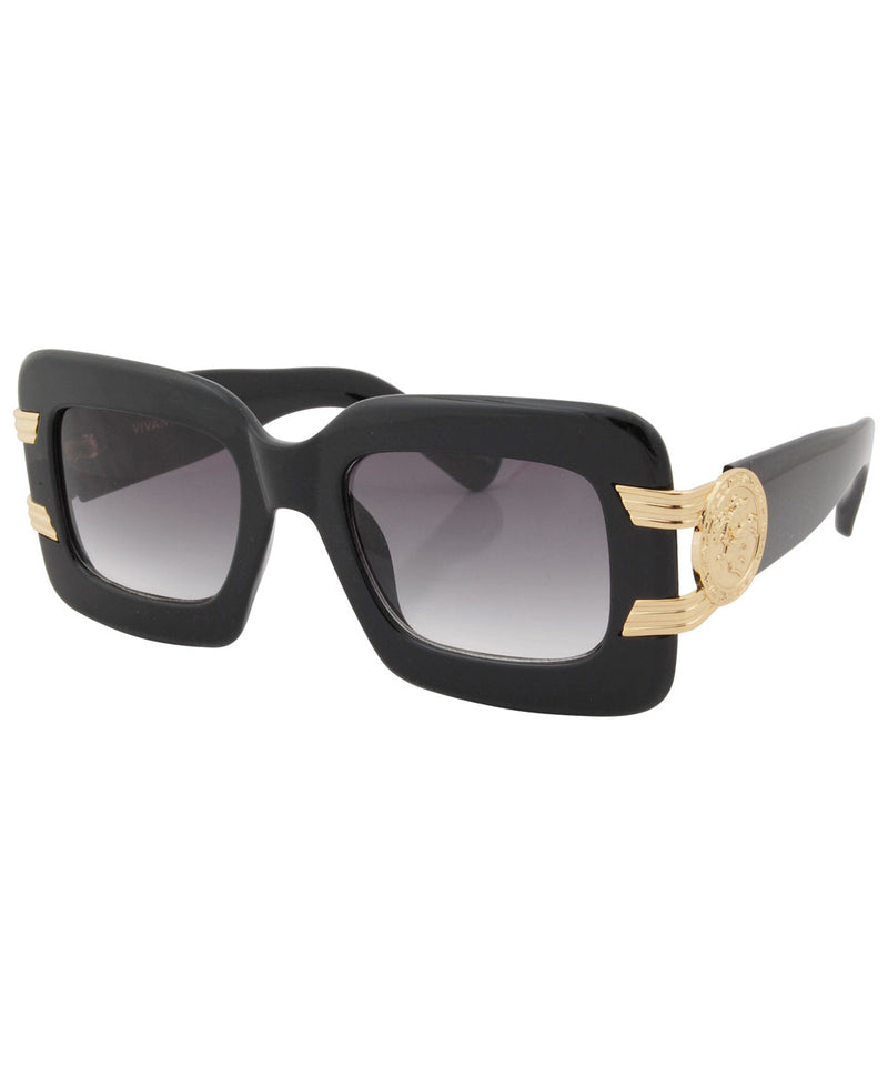 smash black gold sunglasses
