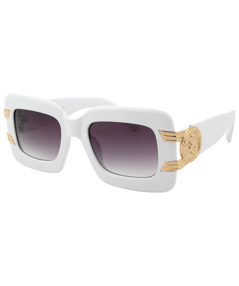 smash white gold sunglasses