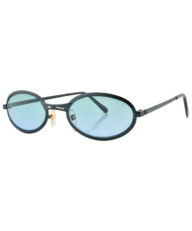 smootchie black aqua sunglasses