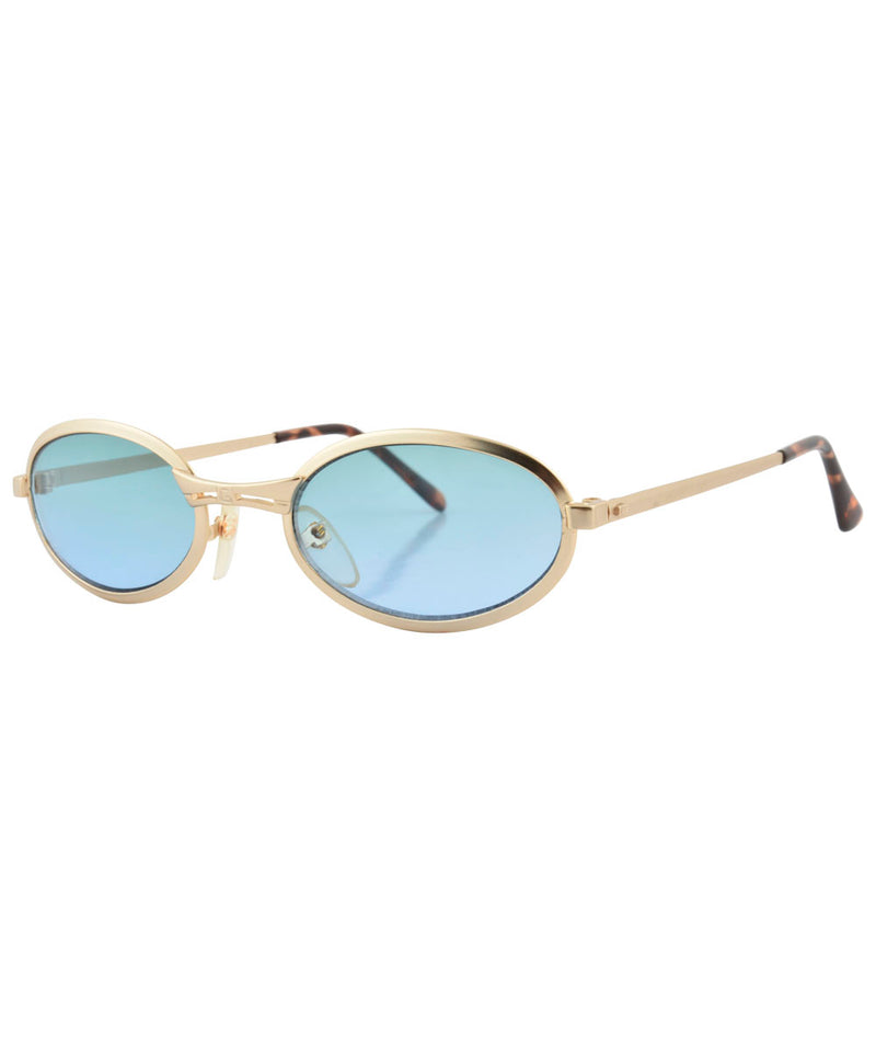 smootchie gold aqua sunglasses