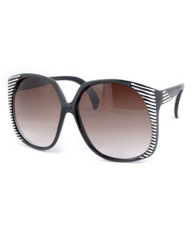 santa ana black white sunglasses