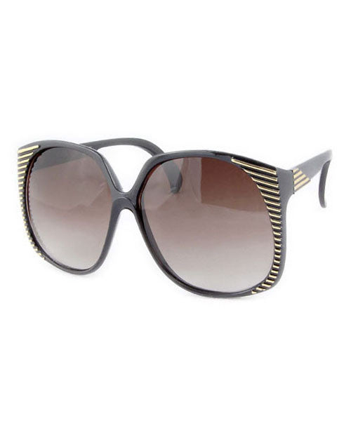 santa ana black gold sunglasses