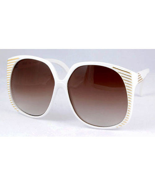 santa ana white gold sunglasses