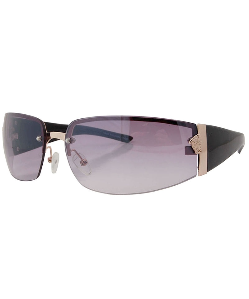 SOLSTICE Black/Smoke Rimless Sunglasses