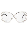 sophia silver clear sunglasses