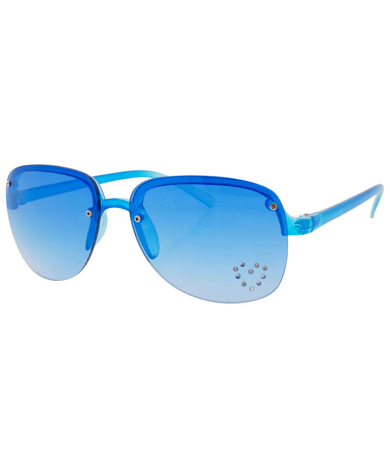 springy blue heart sunglasses