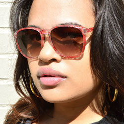 squeeze crystal red sunglasses