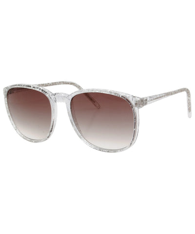 squeeze crystal white sunglasses
