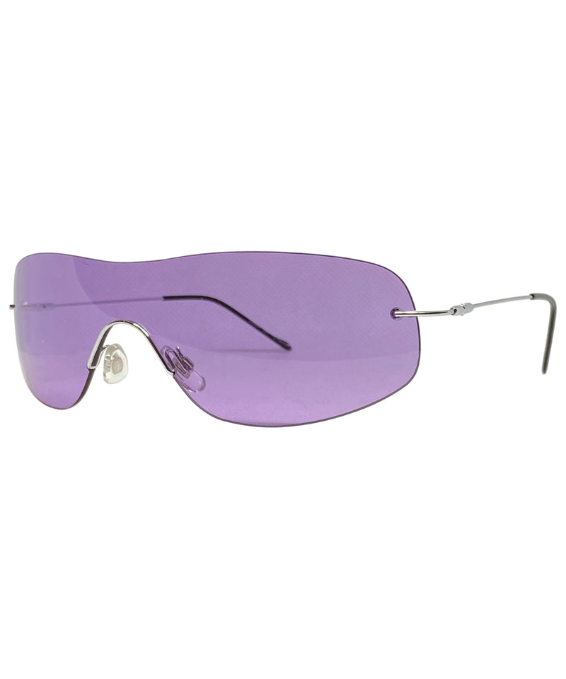 STARS Purple Rimless Glasses