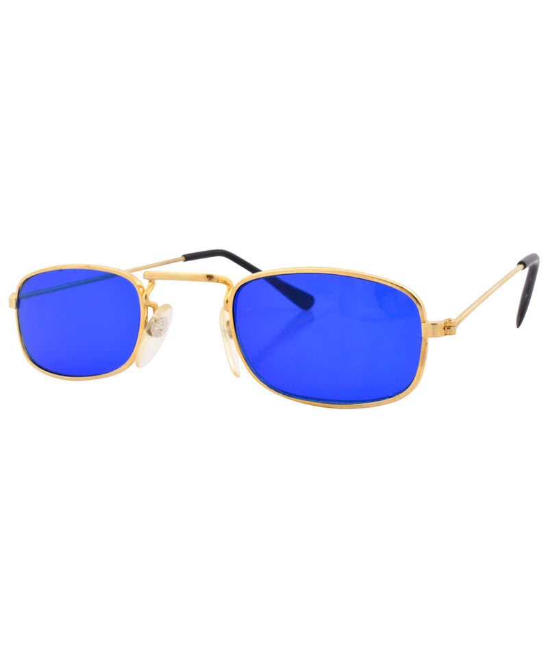 steady blue gold sunglasses