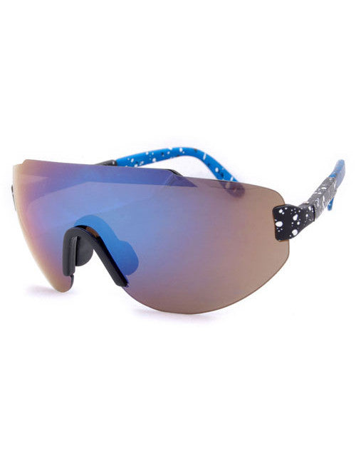 steez black blue sunglasses