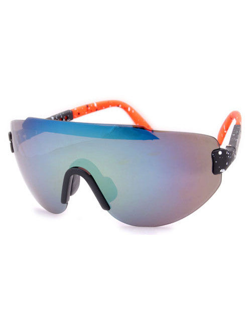steez black orange sunglasses