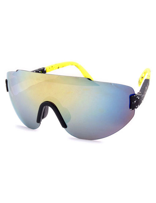 steez black yellow sunglasses